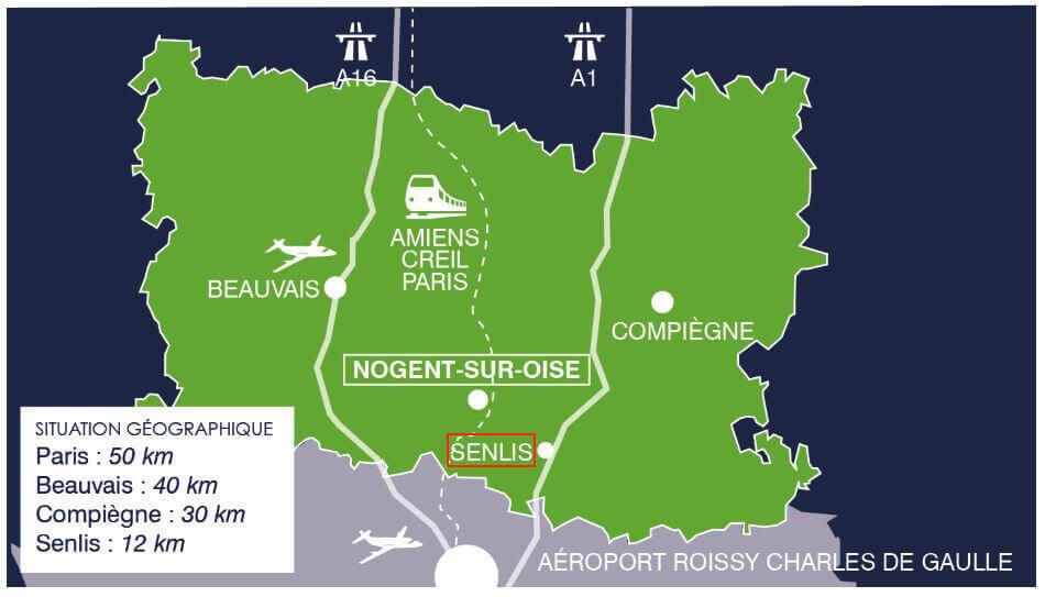 Plan situation Nogent sur Oise et Senlis