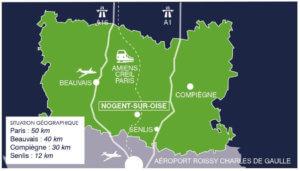 Situation géographique de Nogent sur Oise